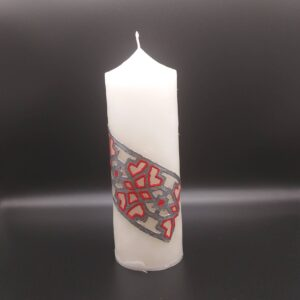 Candle with Armenian Ornaments