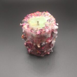 Decorative Candle with Rose Petals