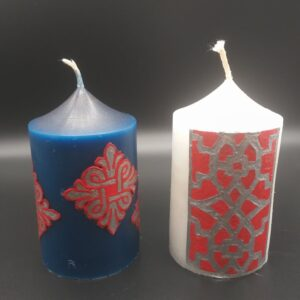 Candle Decorated with Armenian Ornaments