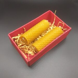 Beeswax Candles with wooden box