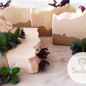 Clay and lavender cream-soap