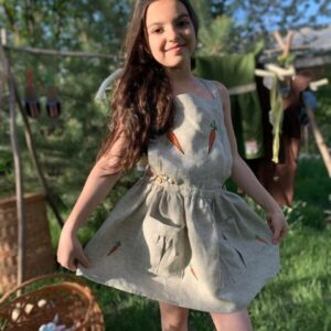 """Girl's dress """"CARROTS"""""""