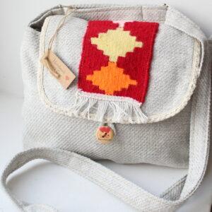Canvas bag with Armenian carpet ornament