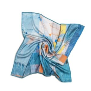 """Silk Scarf """"Invention of the Bicycle"""