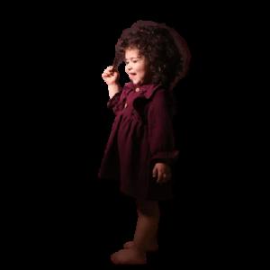 Baby bordeaux dress muslin