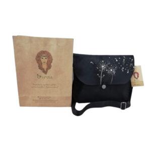 """Handmade black bag """"Dandelion """""""