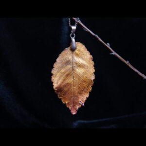 Elm leaf pendant