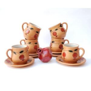Теа Cup Ceramics Pomegranate