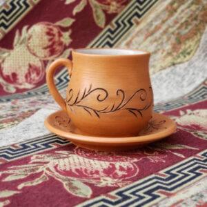 Теа Cup Ceramics Leaf