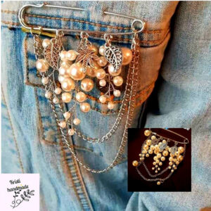 Brooches with chain