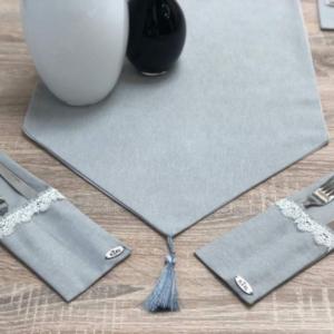 Tablecloth Runner Gray