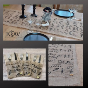 Tablecloth Runner Musical