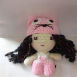 Knitted Doll Cat