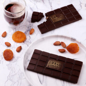 Dark Chocolate with dried apricots and almonds