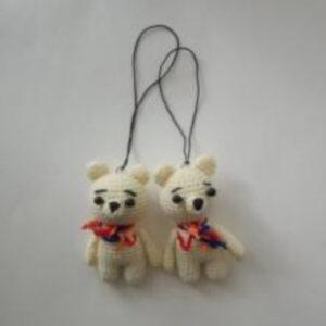 Knitted Pendant Bear