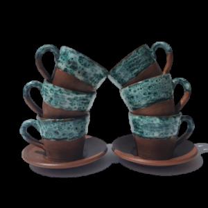 Coffee Cup Ceramics with Azzure Glaze